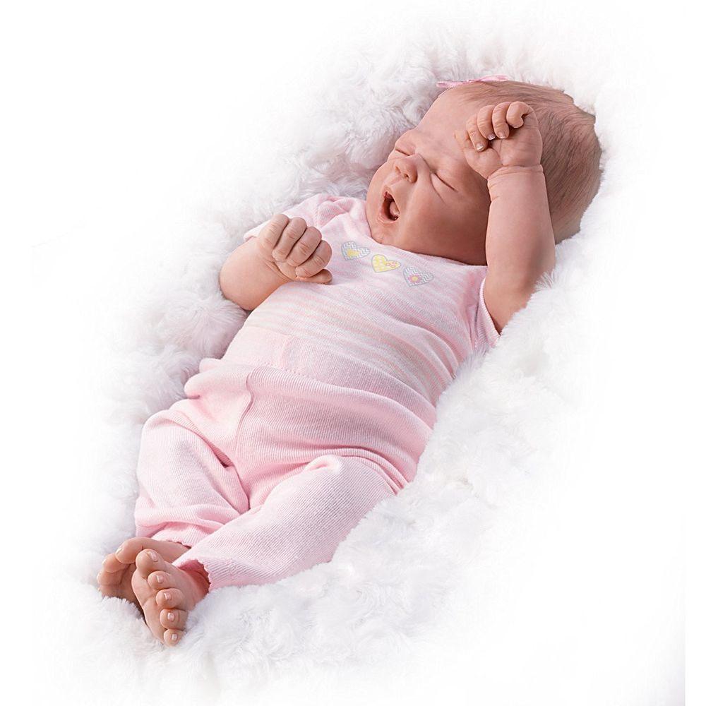 So Sleepy Sophie So Truly Real Baby Girl Doll By Ashton Drake New Nrfb Ashtondrake Real Baby Dolls Baby Dolls Baby Girl Dolls