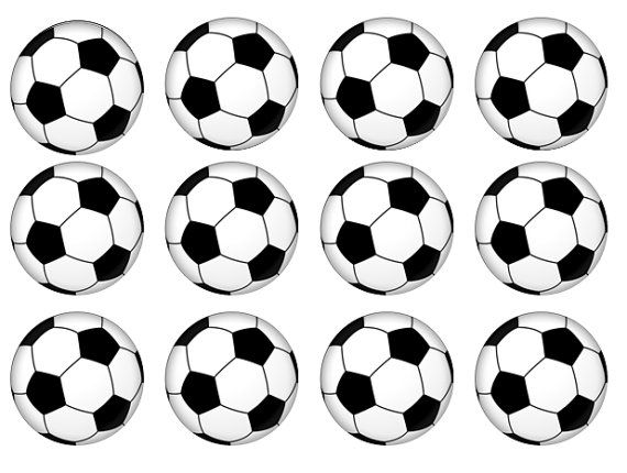 Items Similar To Edible Football Cake Toppers Edible Cupcake Toppers Wafer Paper Icing Paper Sport Cupcake Topper Football Party On Etsy Soccer Birthday Parties Soccer Birthday Soccer Ball