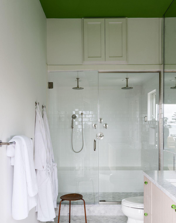 Bathroom design tips from the novogratz white subway tile bathroom ceiling white subway tile dailygadgetfo Images