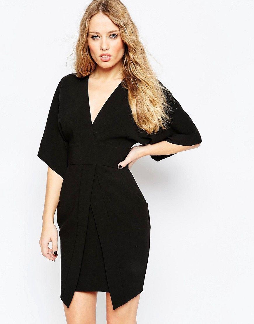 ASOS+Mini+Asymmetric+Pocket+Dress+with+Kimono+Sleeves | LBD\'s ...