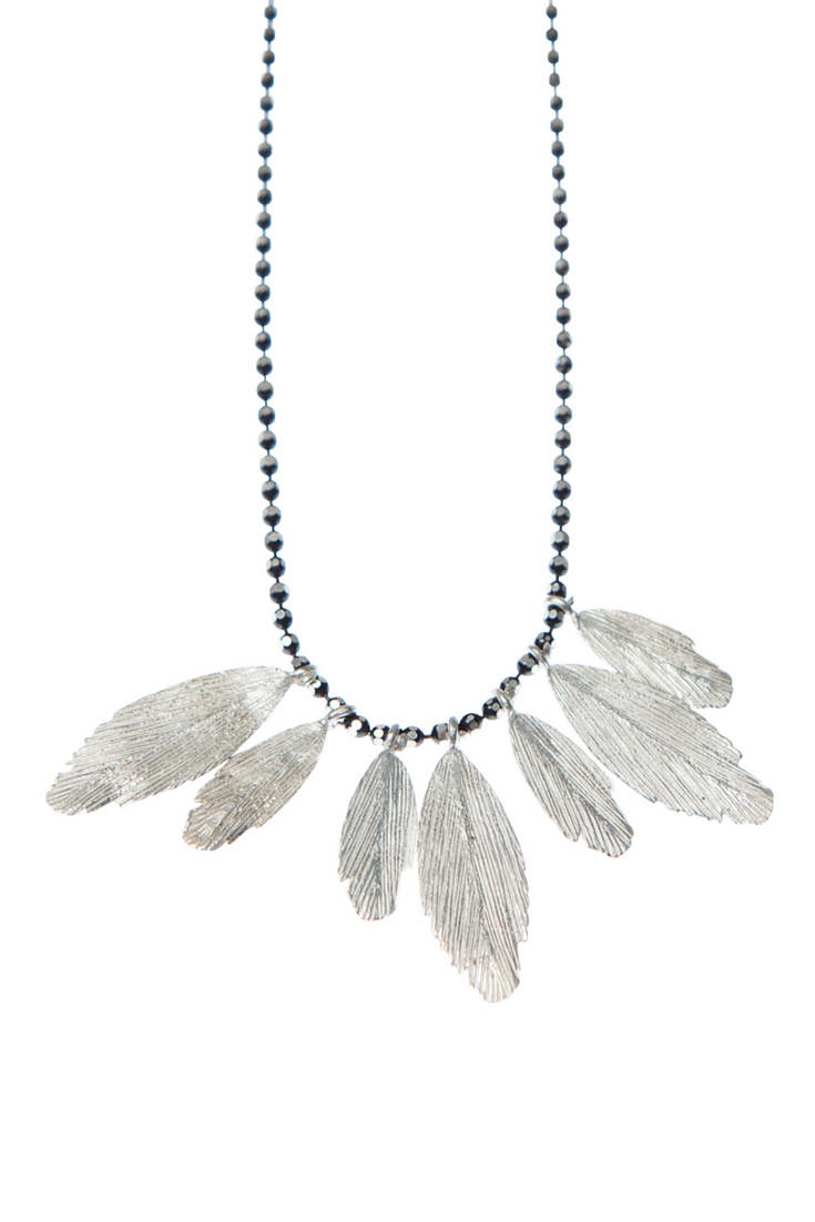 Must-Have Necklaces: Sterling Silver Feather Necklace by Icelandic Designer Aurum   Emerging Designer Jewellery Boutique // London based // Free Shipping // Songofjewellery.com