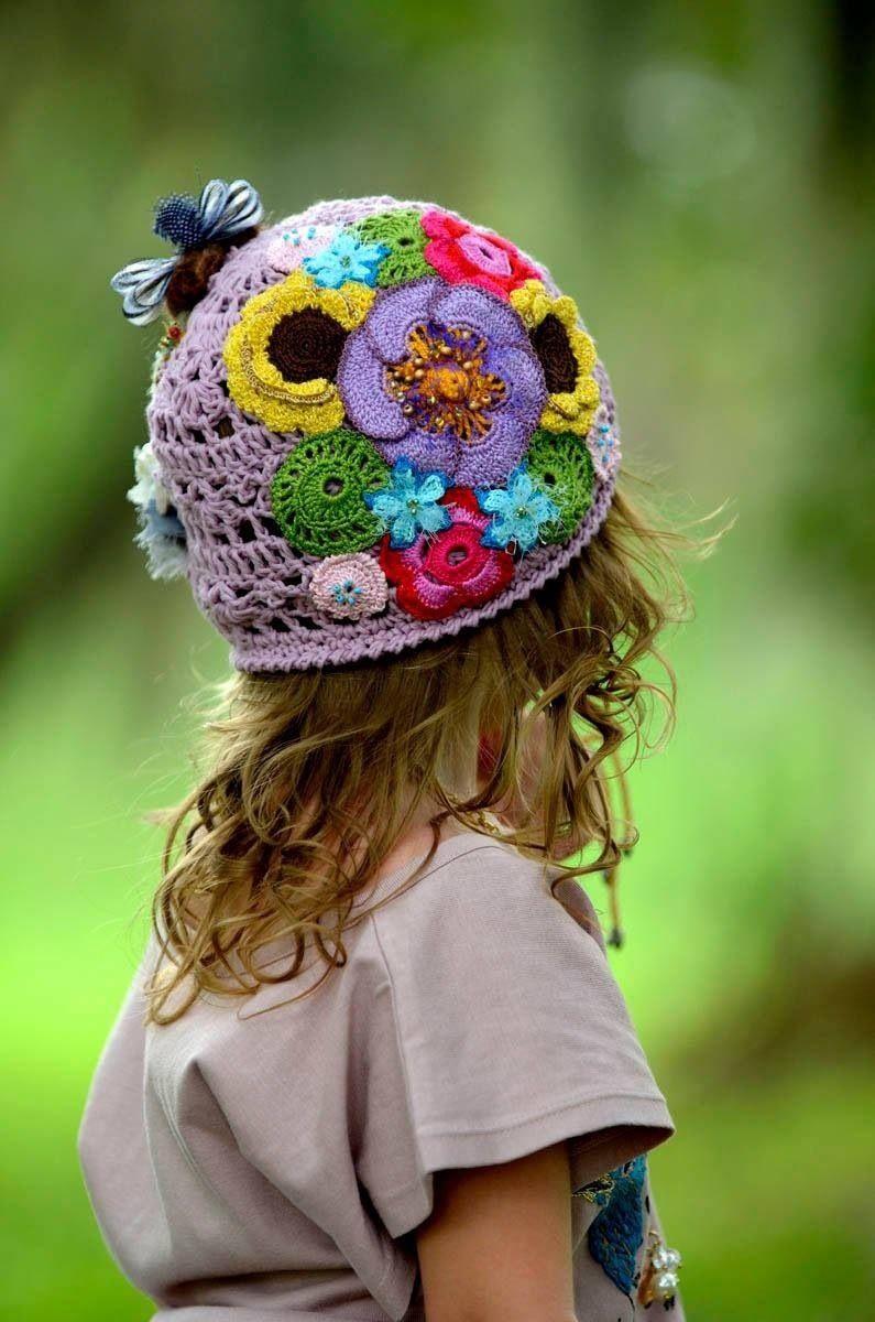 картинки шапочки с цветами постепенно увеличиваются
