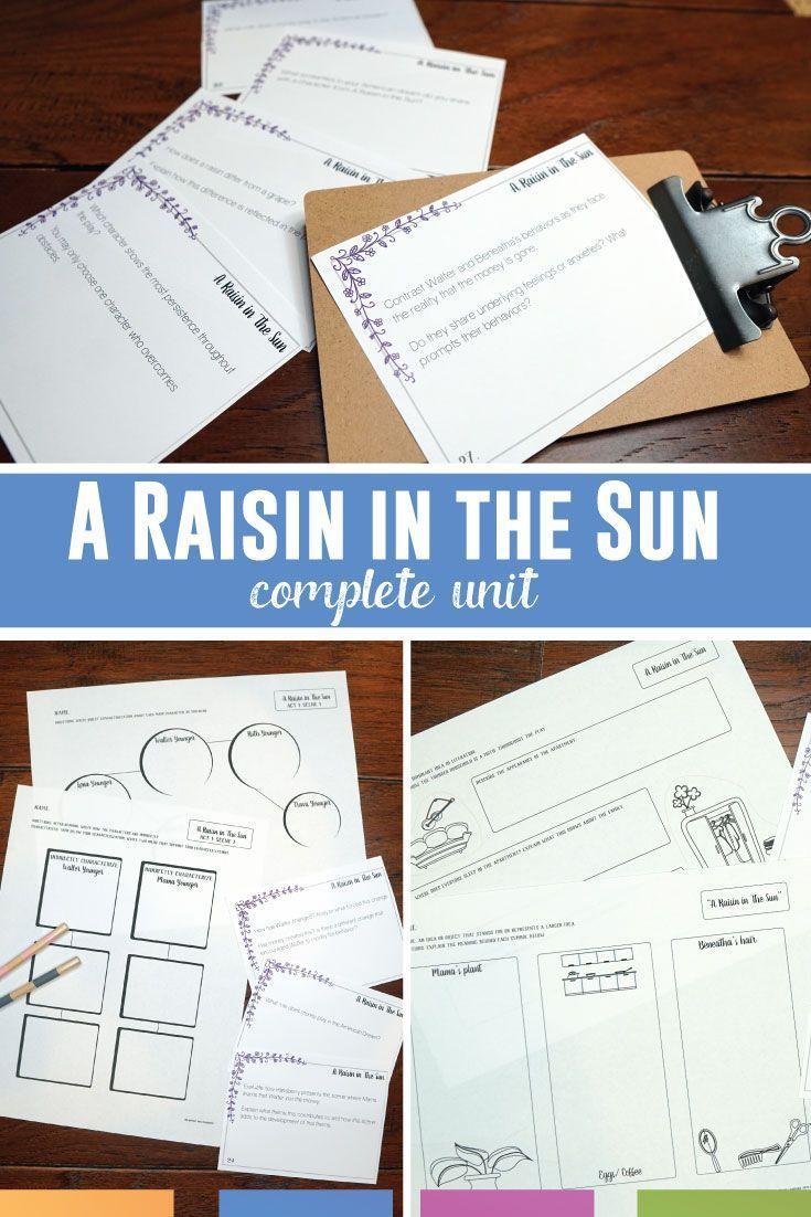 A Raisin in the Sun Complete Unit High school literature