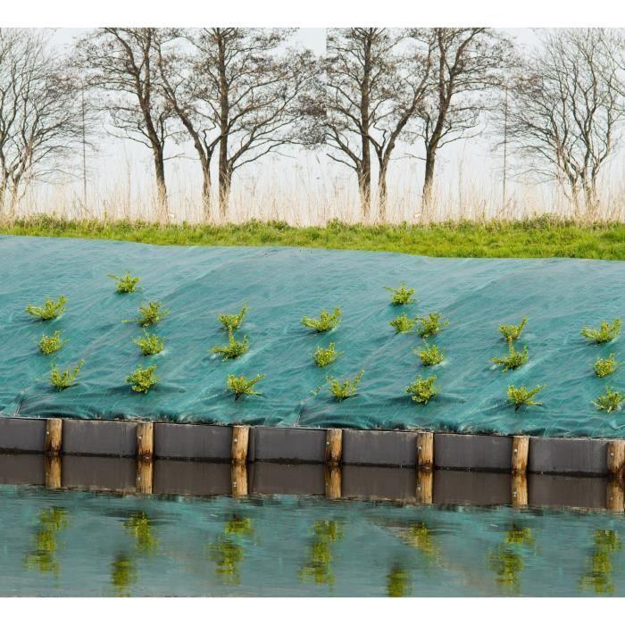Toile De Paillage Paysages Vert 90 Gr M 1x25m Toile De Paillage Paysage Vert Et Dechets De Jardin