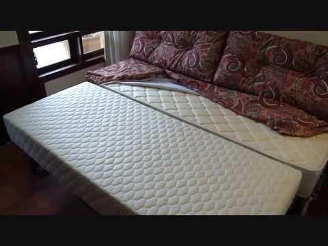 Cama com cama auxiliar em molas.wmv - YouTube