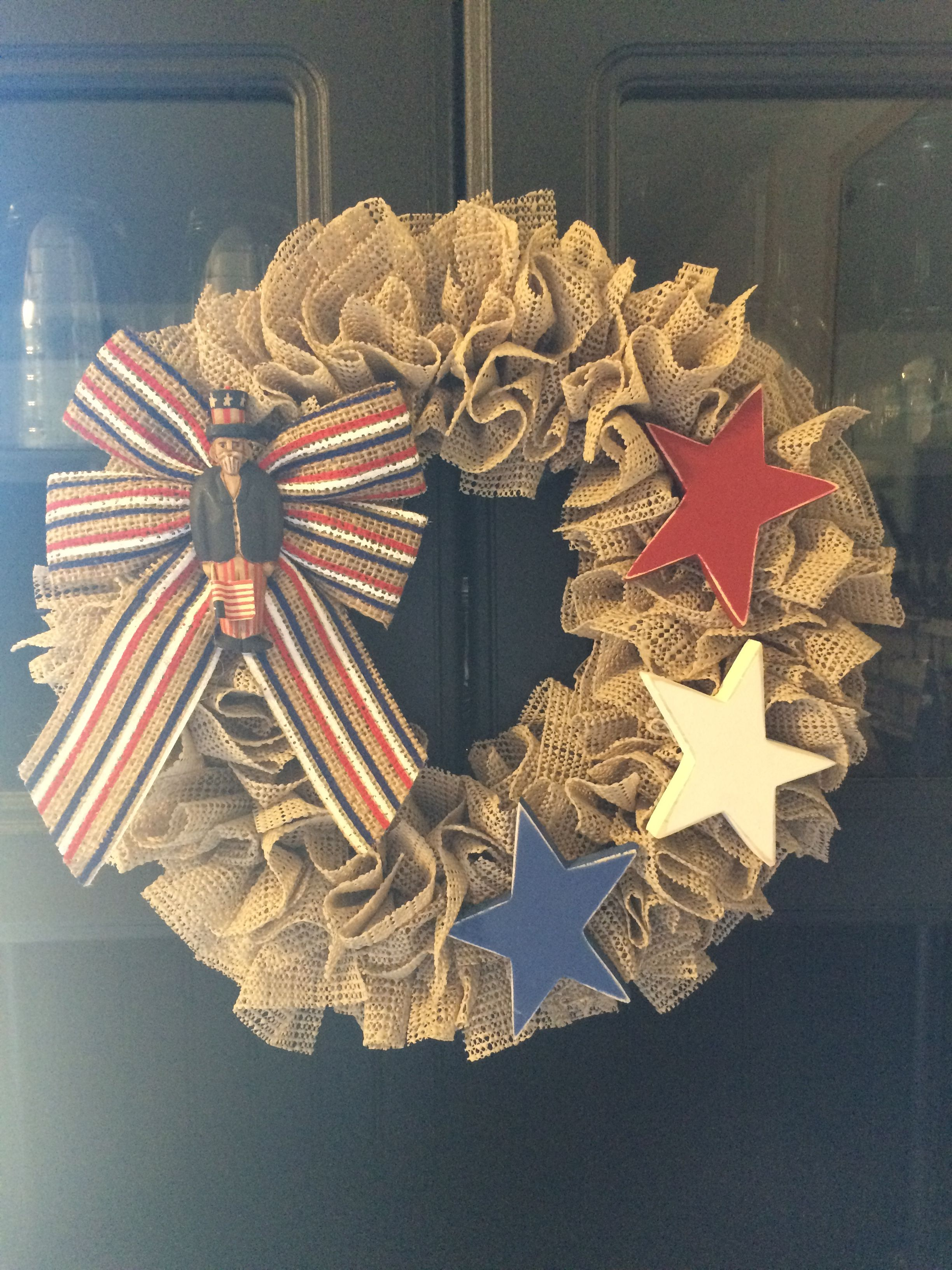 Flag Wreaths For Front Door Diy