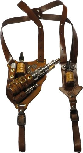 Steampunk Leather Shoulder holster for the iTaste 134 Please follow our boards for the Best in Vaping. Please journey to our websitore @ http://www.bluecigsupply.com