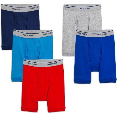 Fruit of the Loom Toddler Boy Assorted Color Boxer Briefs, 5-Pack, Size: 2-3T