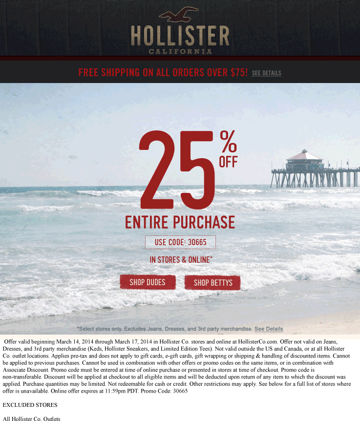 Pinned March 14th 25 Off Everything At Hollister Or Online Via Promo Code 30665 Coupon Via The Coupons App Coupon Apps Smart Shopping App