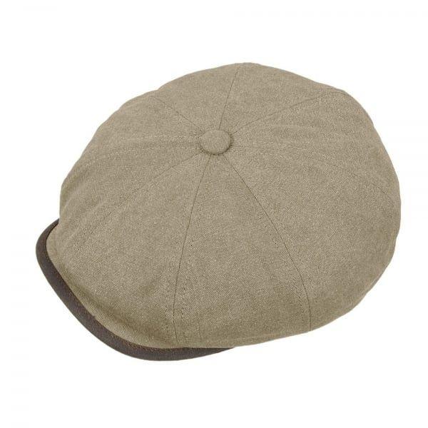 63aaae5c21b Stetson Hats Stetson Seward Green Khaki Canvas Flat Cap 6841125 ...