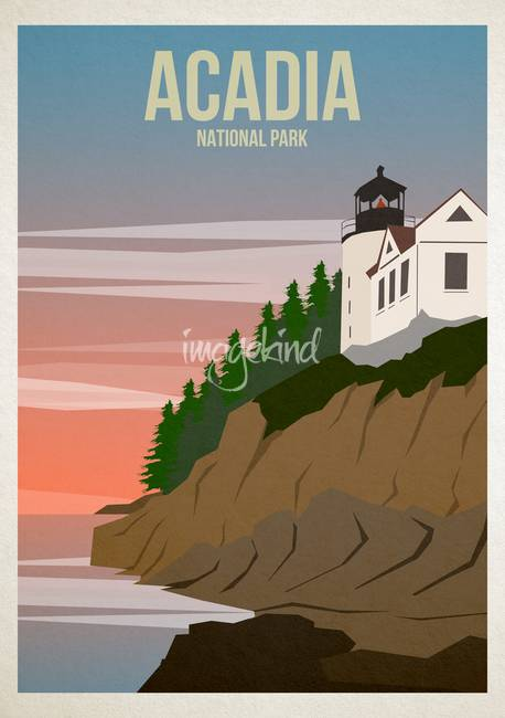 Acadia National Park By Jamie Harknett National Park Posters National Parks Art Prints Acadia National Park
