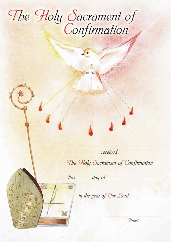 confirmation certificate designed by zelda francis water