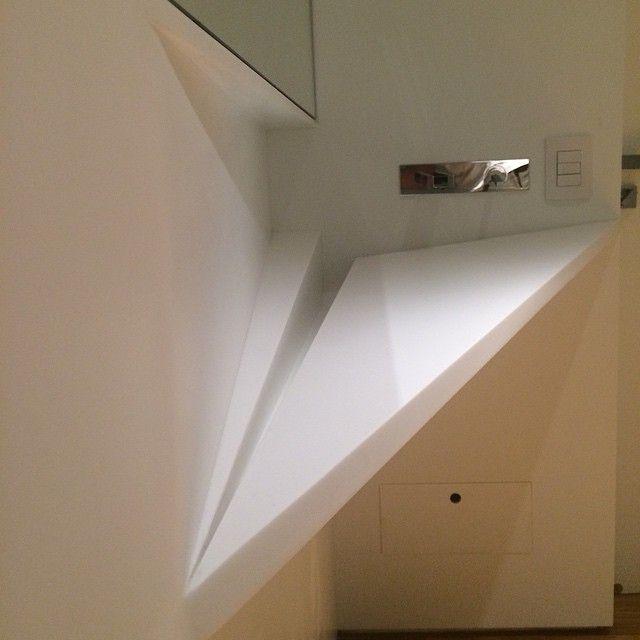 Revestimento de parede, cuba e nicho #lapidamoscorian #sigmmabrasil #sigmmario #corian @gustavomauroy