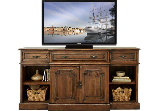Chesterbrook Brown 72 In Console Tv Stand Flat