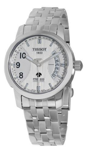 Tissot Men's T0144211103700 PRC 200 AutoQuartz Stainless-Steel Silver Dial Watch Tissot. $396.00. •Stainless steel round case•Luminous hands and hour markers•Date display•Silver dial•Water-resistant to 660 feet (200 M). Save 25% Off!