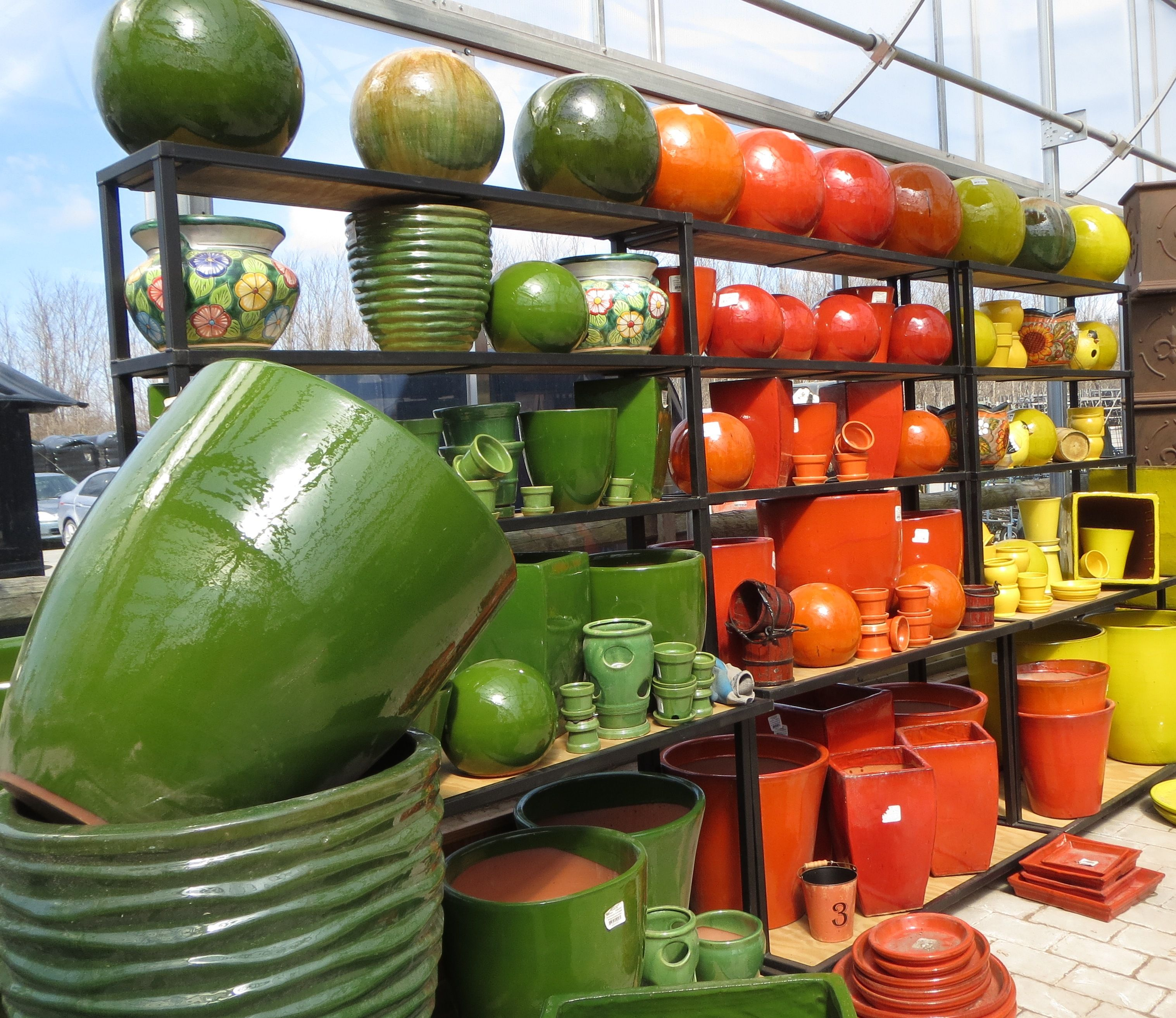 New Ceramics Bristol S Garden Center Victor Ny In Every Shape And Color Stop Get Ready For Spring With Colorful Container Gardens