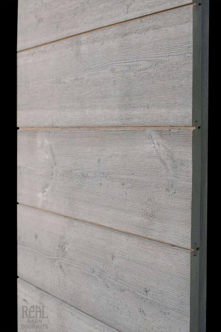 Weathered horizontal barn doors plank and barn