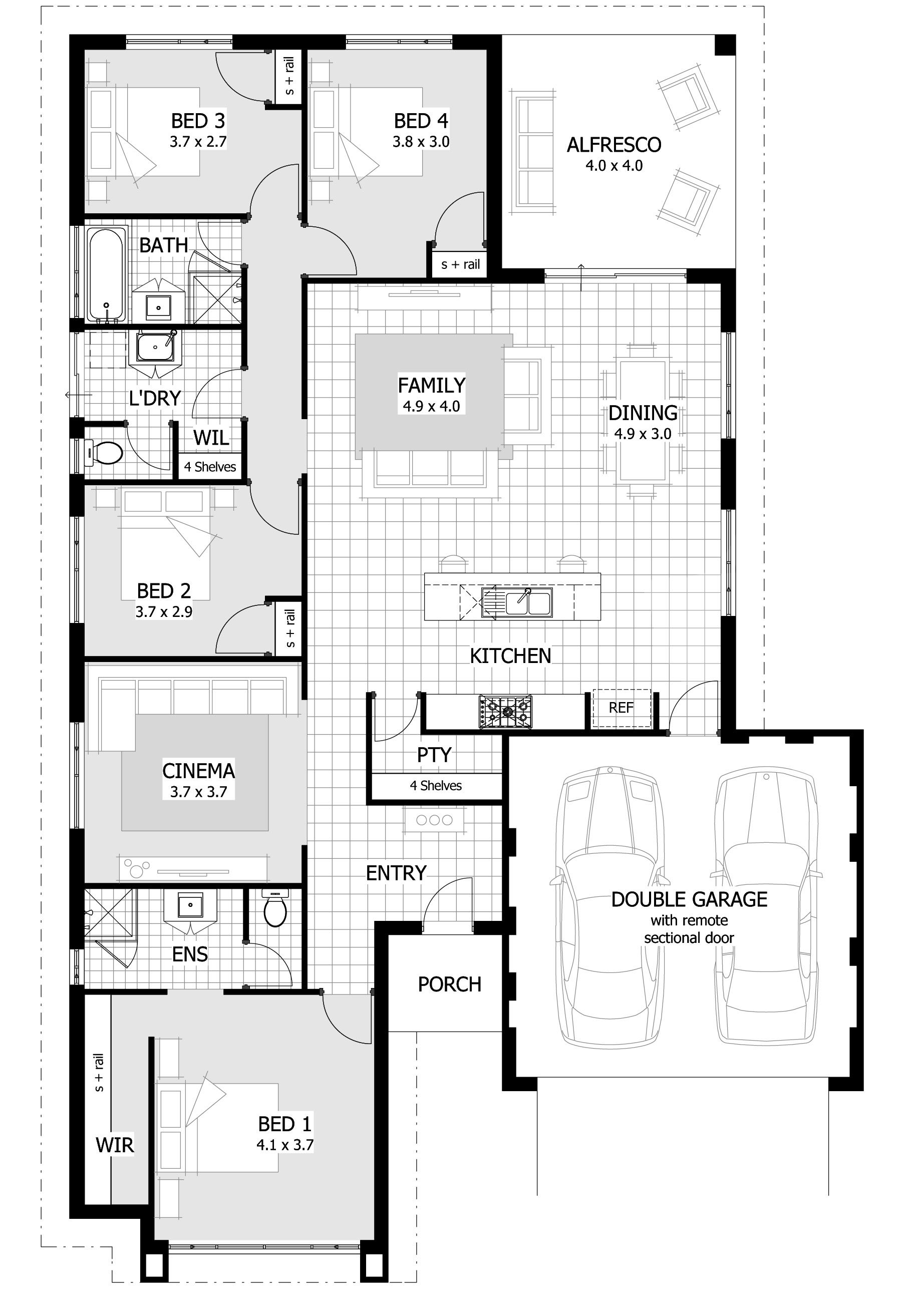 Rio 0 Jpg 1841 2628 Condo Floor Plans 4 Bedroom House Plans Bedroom House Plans