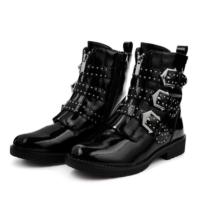 Czarne Botki Workery A3362y Worker Boots Boots Womens Boots