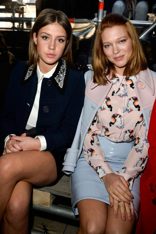 Adele Exarchopoulos Left And Lea Seydoux Attended The Miu Miu