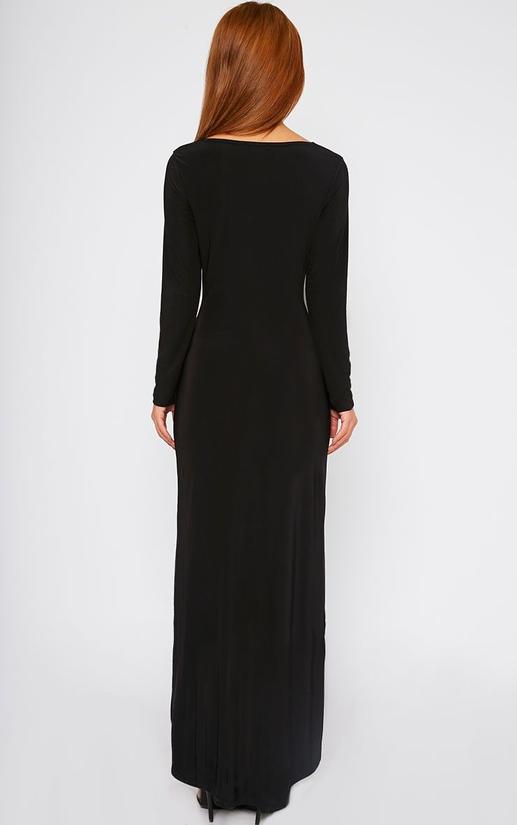 Fearne Black Slinky Dip Hem Dress thumbnail 1  1077c6f7ac