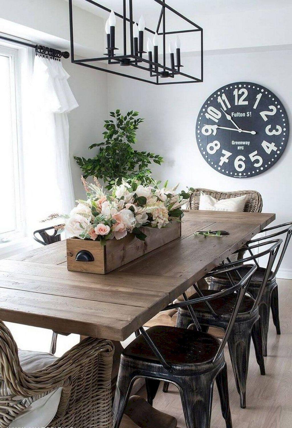 Nice 80 Stunning Rustic Farmhouse Dining Room Set Furniture Ideas Carribeanpic