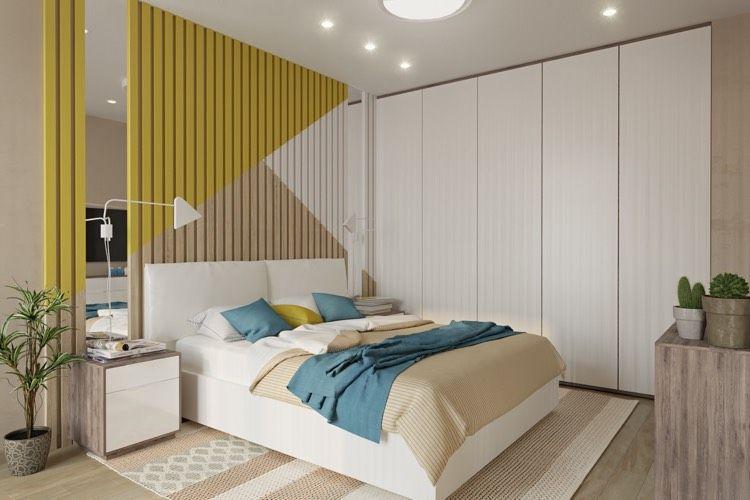 geometrische Formen mit Farbe streichen   Schlafzimmer...bedroom ...
