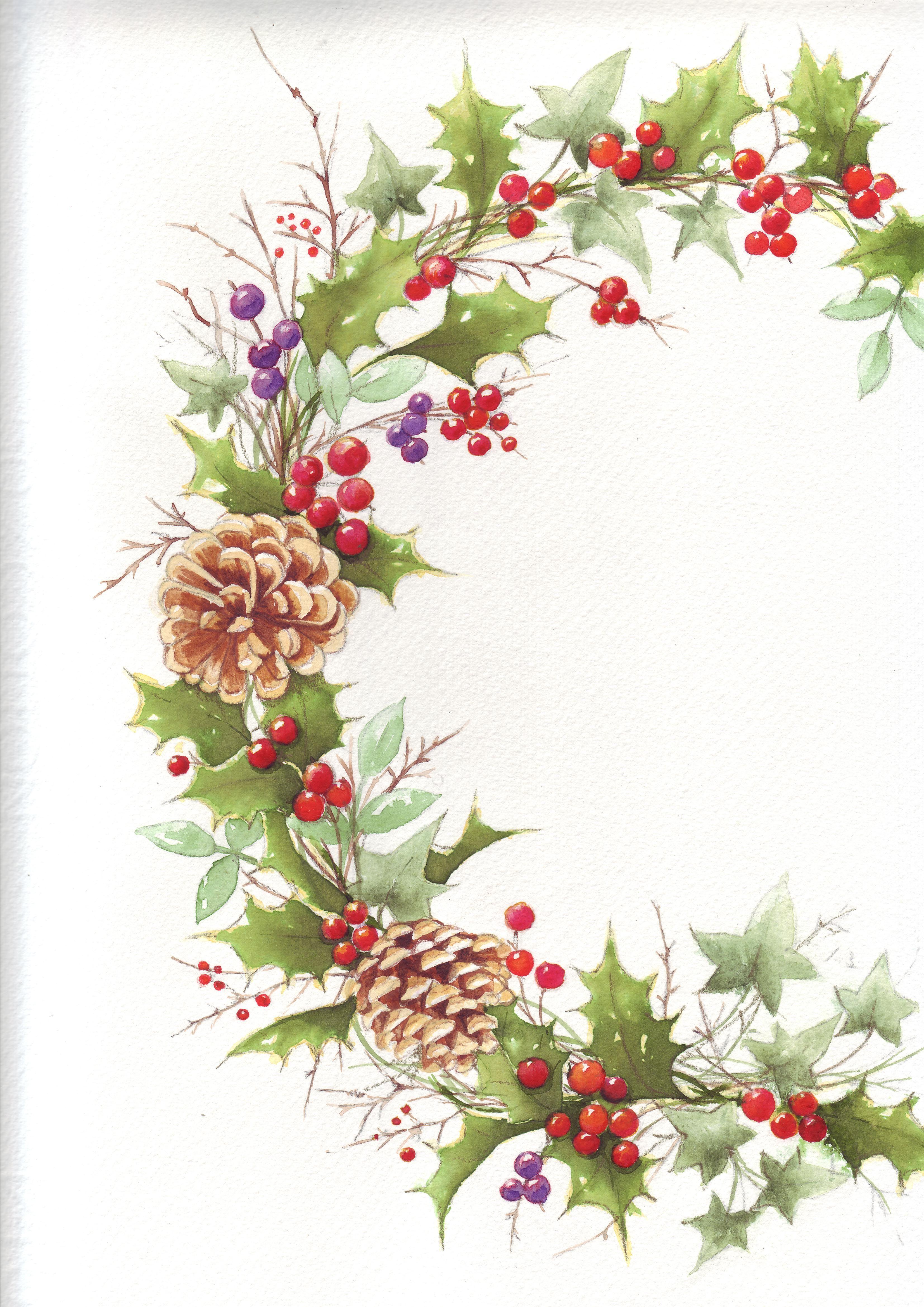Christmas Wreath Tole painting Pinterest