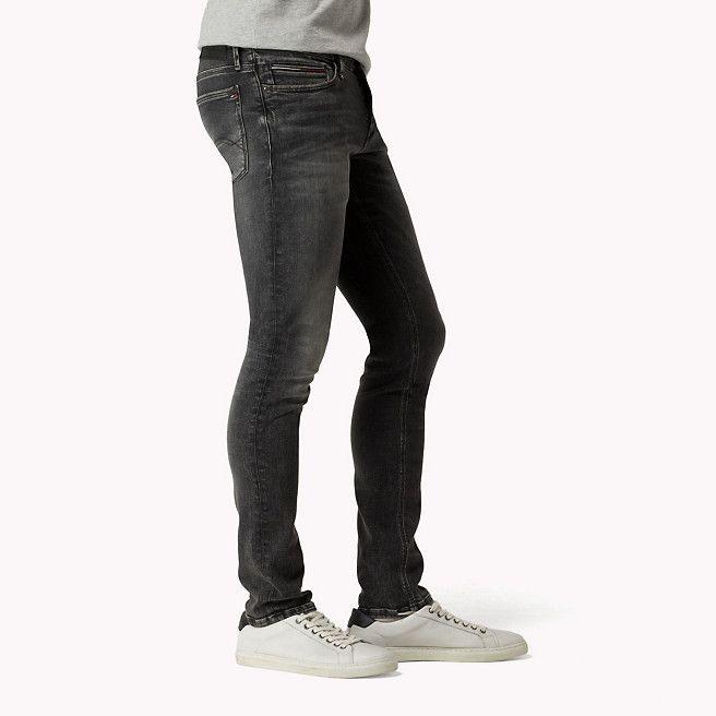 Tommy Hilfiger Sidney Skinny Fit Jeans - vintage black stretch - Tommy Hilfiger Skinny Jeans - detail image 2
