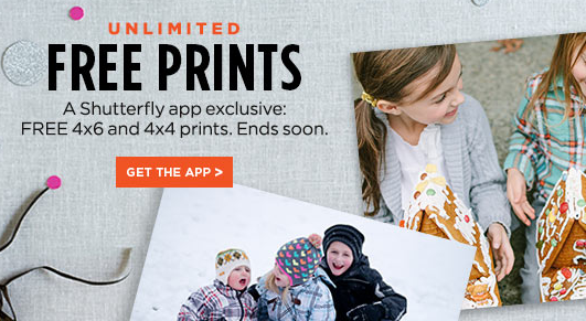 Shutterfly Free unlimited 4x6 photo prints when you order