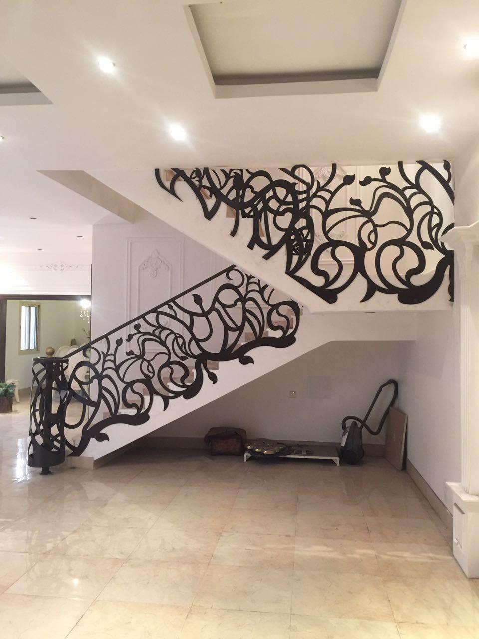 Door Metaldoor Creativemetals Saudiarabia Riyadh Laser Cnc Outdoor Stairs Staircase Design Stairs Design Modern Stair Railing Design