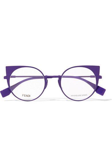 a8e37838bfec FENDI Cat-eye metal optical glasses.  fendi  opticals