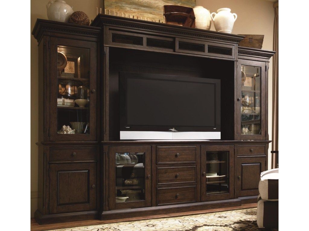 Simple Yet Classic In Design This Countryside Inspired Entertainment Console Wall Unit Home Entertainment Centers Entertainment Wall Units Entertainment Wall
