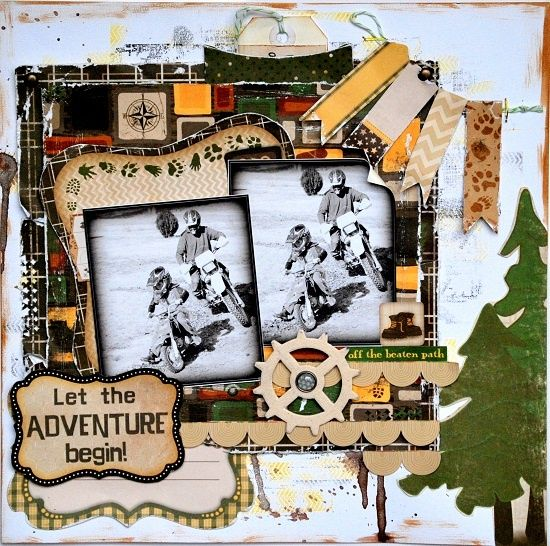 bo bunny camp a lot layout | Bo Bunny – Camp-a-lot by Rachael Funnell | Scrapbook ideas... Child