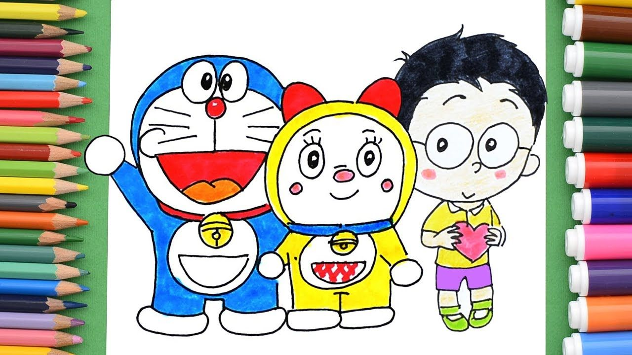 Doraemon Dorami Nobita Coloring Pages How To Draw Doraemon Heroes Drawing For Kids Coloring Pages Drawings