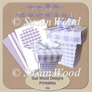Sue Wood Designs Tapered Gift Box