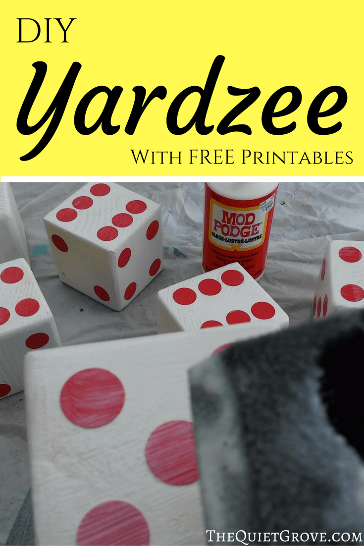DIY Yardzee Set! | Gift ideas | Diy yard games, Yard games, Yard yahtzee
