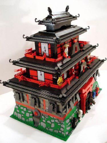 Ninjago Red Castle A Lego Creation By Ac Pin Mocpages Com Lego House Lego Ninjago City Lego