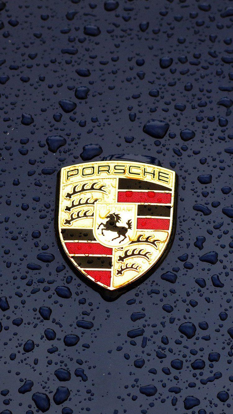 Porsche Logo Emblem Car Illustration Art Wallpaper Hd Iphone Epics