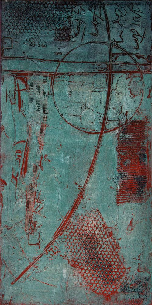 Photo of Driving Force 3-10 by Anne Moore – Monotypes, 20″ x 10″ block #printing #art