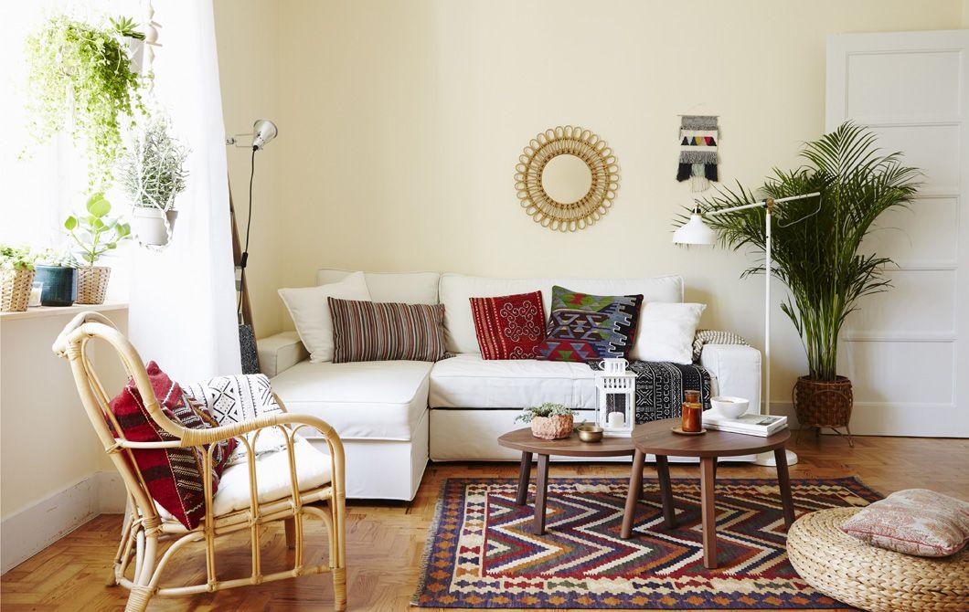 Mit verschiedenen Textilien, die farblich zusammenpassen, kannst du - wohnzimmer ideen ikea