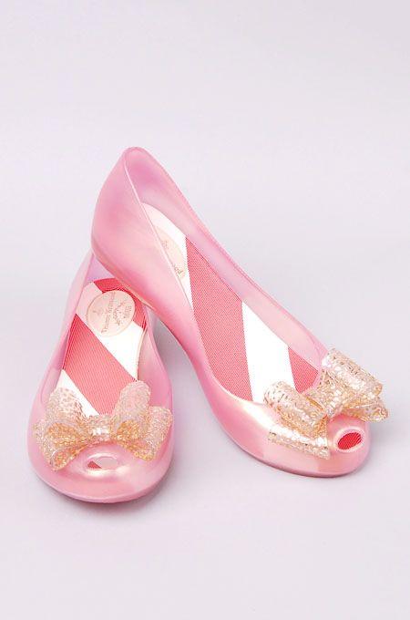 Vivienne Westwood Melissa Utlragirl V.  $130.  These remind me of my toy Barbie shoes