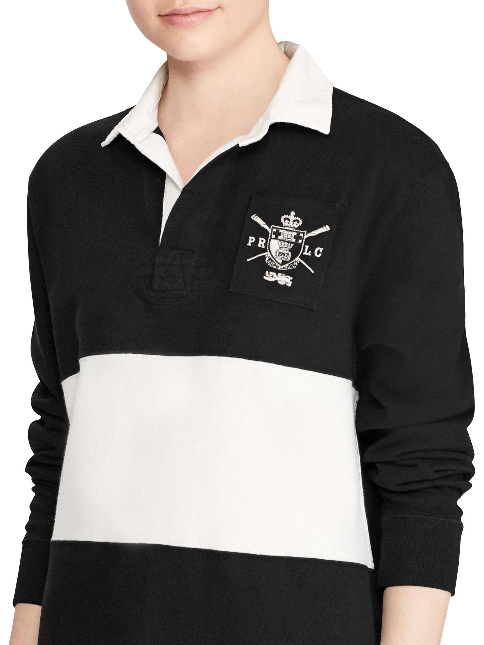 Ralph lauren embroidered rugby shirt dress black medium products