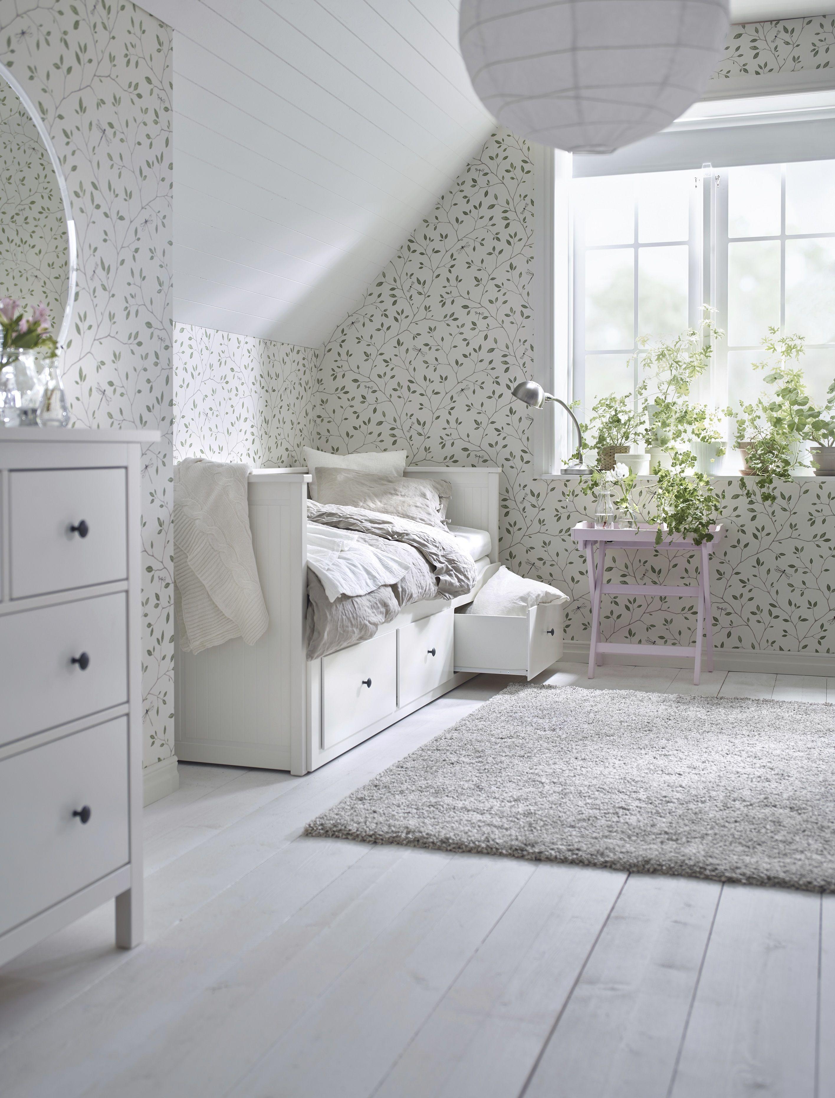 HEMNES bedbank | #IKEA #IKEAnl #wit #eenpersoonsbed #tweepersoonsbed ...