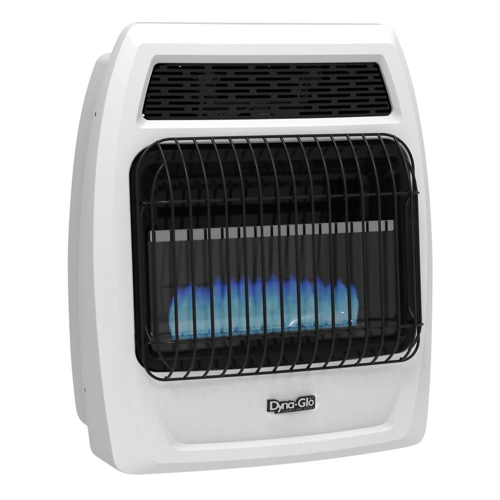 Dyna Glo 20 000 Btu Vent Free Blue Flame Liquid Propane Thermostatic Wall Heater Bfss20lpt 2p The Home Depot Natural Gas Wall Heater Heater Wall Mounted Heater