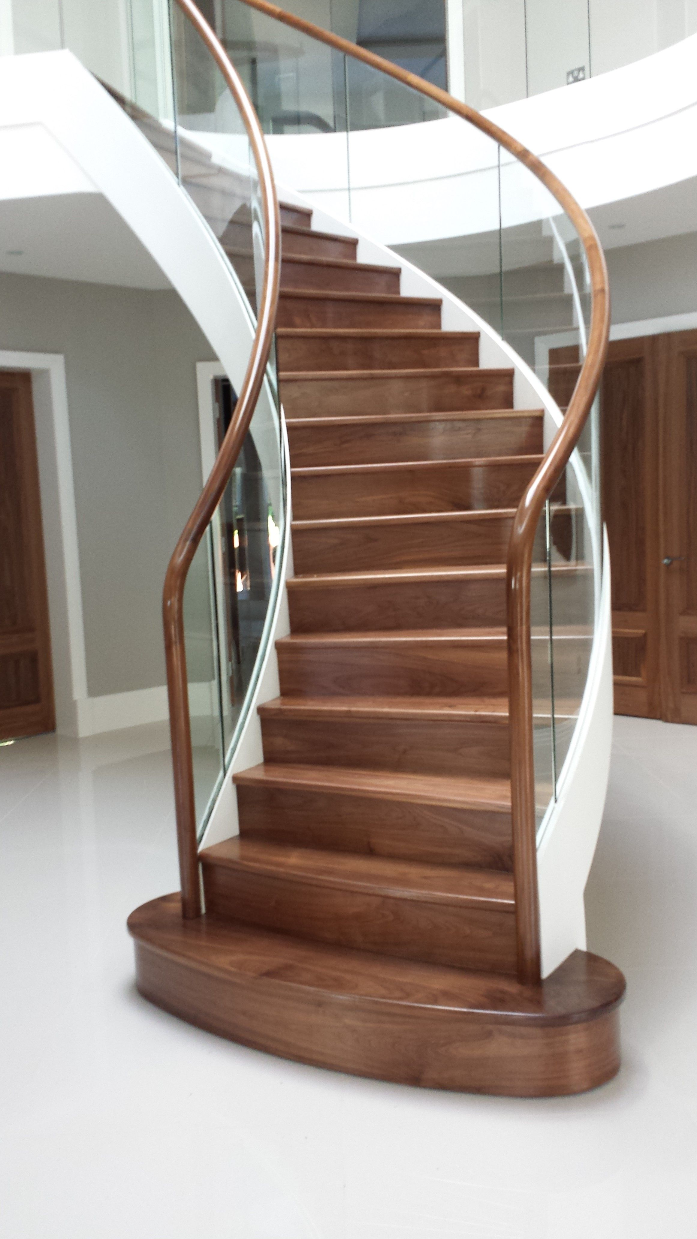 Best Fabricated Mild Steel Helical Staircase With Timber Treads 400 x 300