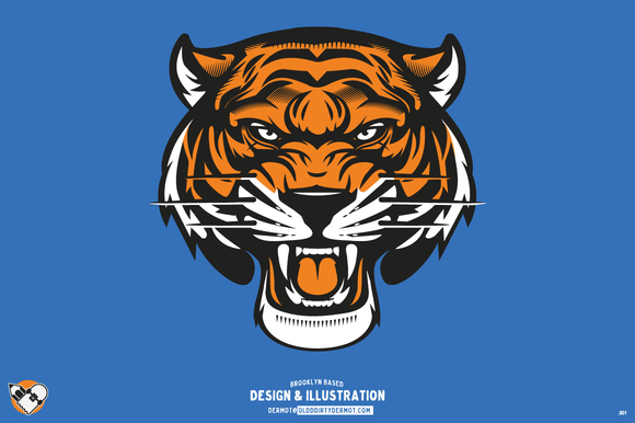 Vector Tiger  sale For by on Head olddirtydermot Creative
