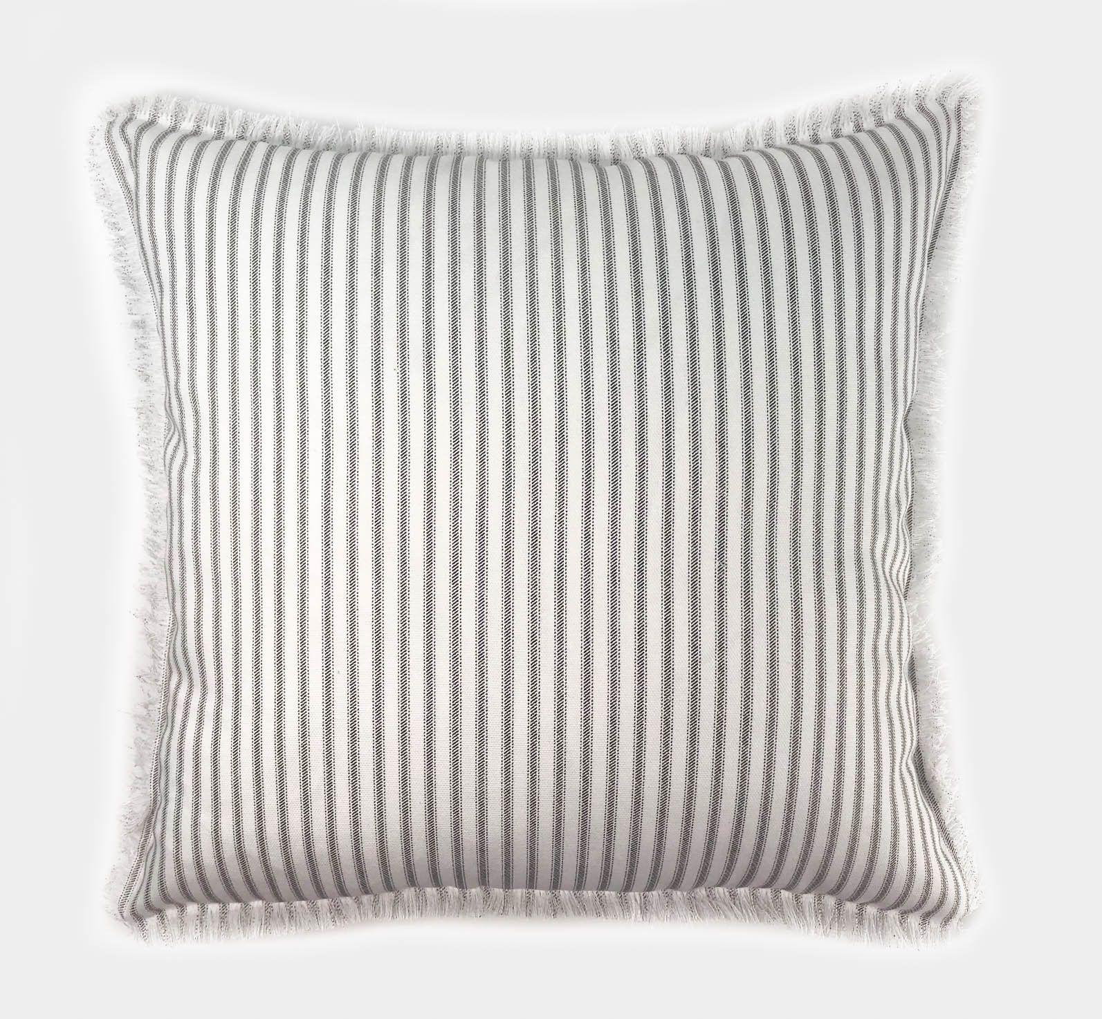black white ticking stripe decorative