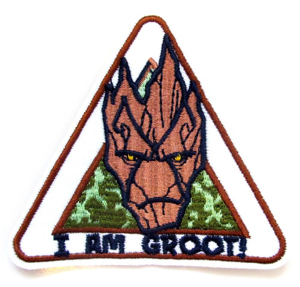 "GUARDIANS OF THE GALAXY/"" I AM GROOT /"" Embroidered Patch 4/"""