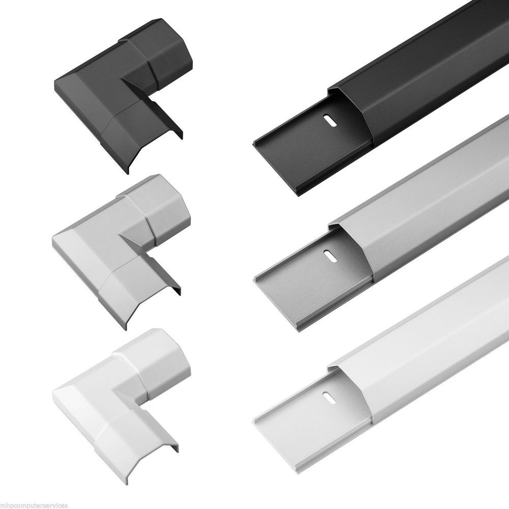 33mm/50mm Metal Aluminium Cable Cover Ducting Conduit Trunking ...